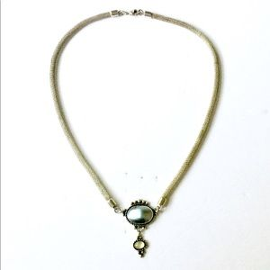 Sterling SILVER Pearl Necklace Native American 925